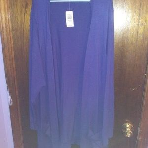 Sweaters - Torrid Size 5 Blue Cardigian